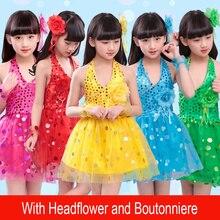 Блестящими Пайетками современный танец костюмы, сценическая одежда для детей, платье для сцены и танцев, Одежда для танцев для девочек