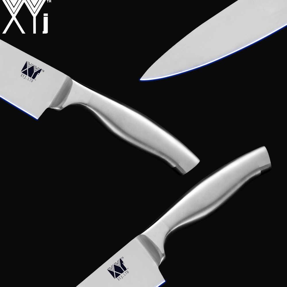 Juego de cuchillos de cocina XYj de 6 uds de acero inoxidable 7cr17 cuchillos afilados con mango de cuchilla cuchillos para carne pescado fruta accesorios de utensilios para cocina