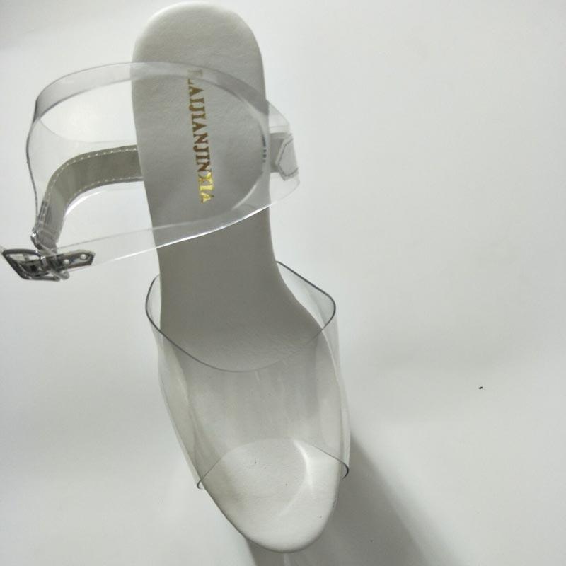 Nouvelles formes Chaussures 34 D'été Talons Laijianjinxia 20 Pantoufles Dames Hauts Plates Dés e008 Plus Cm E007 La 46 Mariage Mince Cristal Sexy Taille De nPqPY4wf