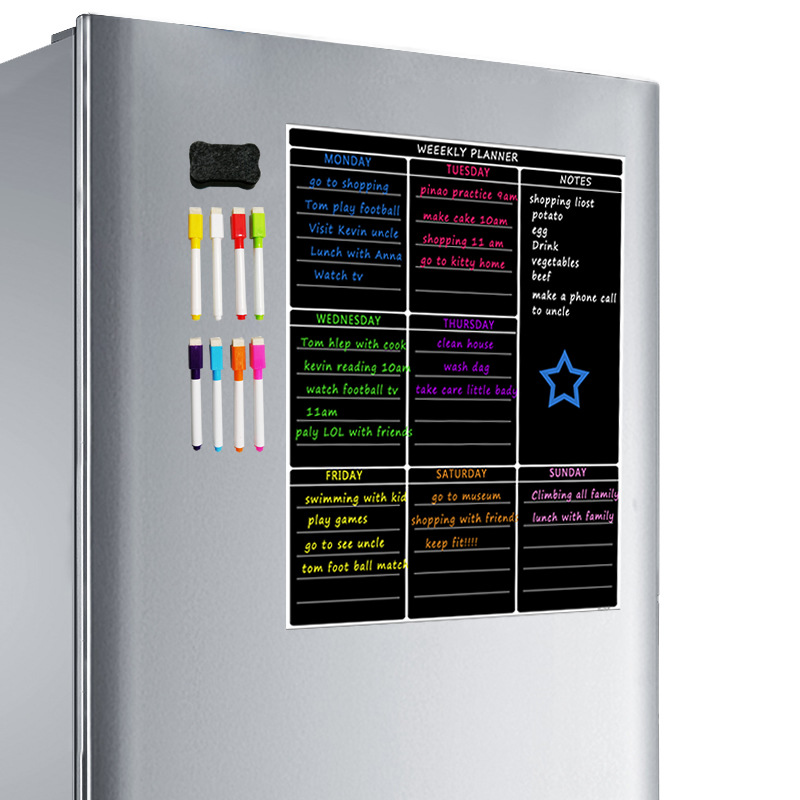 A3 Magnetic Dry Erase Whiteboard Sheet With 4 Pens Weekly White Board Calendar For Refrigerator Kitchen Office