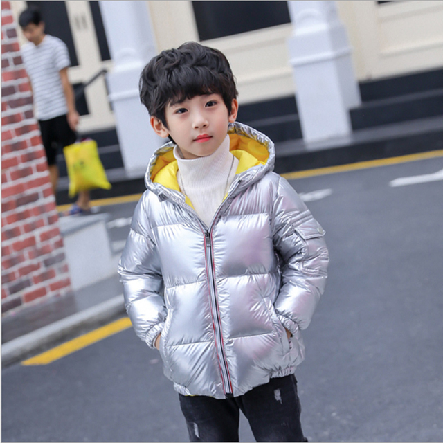 dbd471d4fe69 winter jacket for boys girls silver coats gold down jackets kids ...