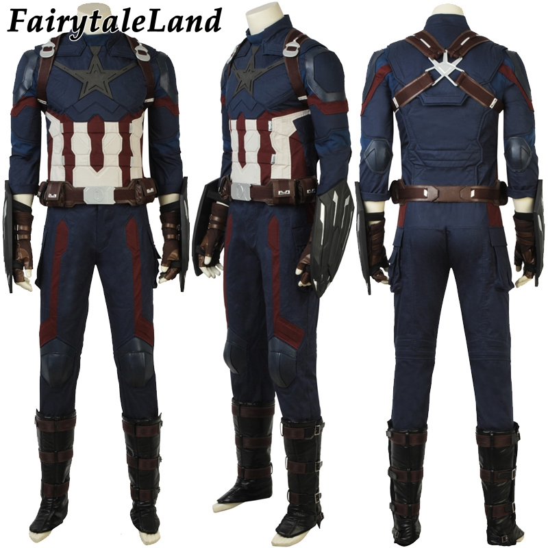 Avengers 3 Captain America Costume Halloween costumes Cosplay Steve Rogers Captain America Avengers Infinity War costume suit