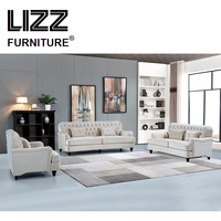 Furniture Casa Modern Style Sofa American Country Chesterfield Fabric Sofa Sets For Home