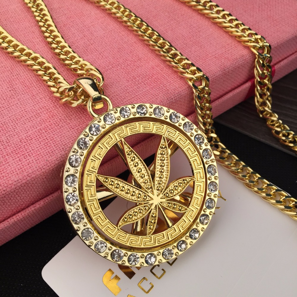 Online shop mens jewlery hip hop golden iced out marijuan weed online shop mens jewlery hip hop golden iced out marijuan weed leaf rotate pendant necklace pot charm chain alloy hipsters gift aliexpress mobile mozeypictures Gallery
