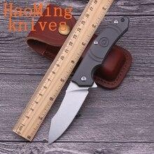 أدوات يدوية صغيرة محمولة بنظام تحمّل سكاكين قابلة للطي لأغراض إنقاذ والصيد والتخييم D2 من الفولاذ EDC للاستخدام الخارجي