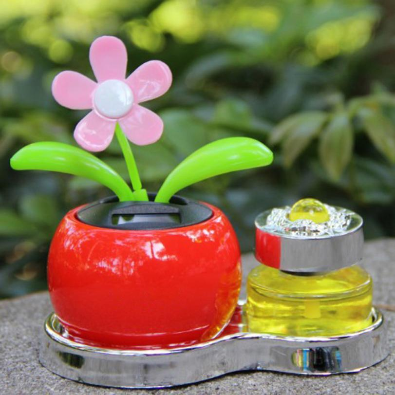 Dropship Hot Selling Solar Powered Dancing Flower Swinging Animated Dancer Toy Car Decoration New Gift