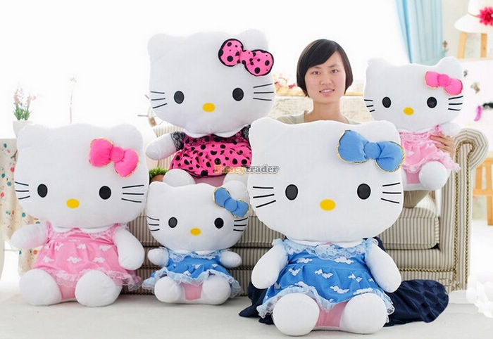 Fancytrader 27\'\' 70cm Giant Plush Stuffed Hello Kitty, 3 Colors Available! Free Shipping FT90157 (4).jpg