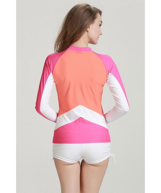 02833508c UV Sun Protection Women's Skins Long Sleeve Crew Rashguard Basic Skin for  Wetsuit Swimsuit for Girls Female