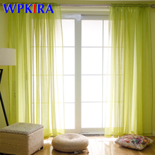 Modern Solid White Tulle Window Curtains Balcony Kitchen French Sheer Window Curtain Tulle for Living Room Cortinas WP276-30