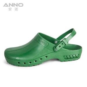 Image 3 - ANNO медицинские башмаки с ремешком, безопасные тапочки медсестры, Антистатическая Хирургическая Одежда для ног для женщин и мужчин, нескользящая обувь