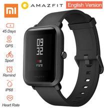 "Xiaomi Huami Amazfit Bip English Version Pace Youth Smart Watch Mi Fit 1.28"" Screen 32g Ultra-Light IP68 Waterproof GPS Watch"