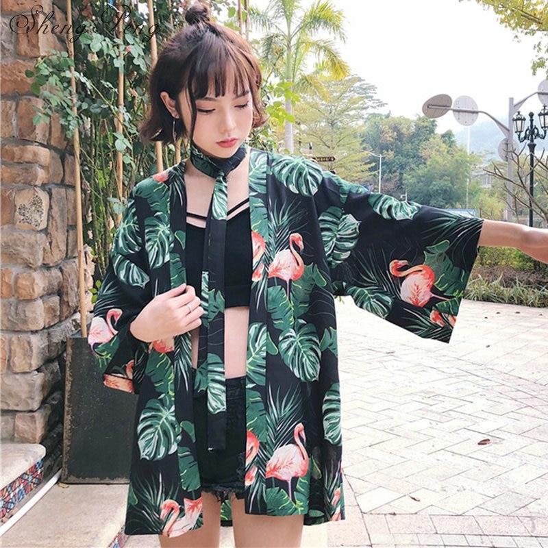 Japanese Kimono Shirt Cardigan Beach Fashion Traditional Japanese Kimono Yukata Women Japanese Traditional Kimonos CC025