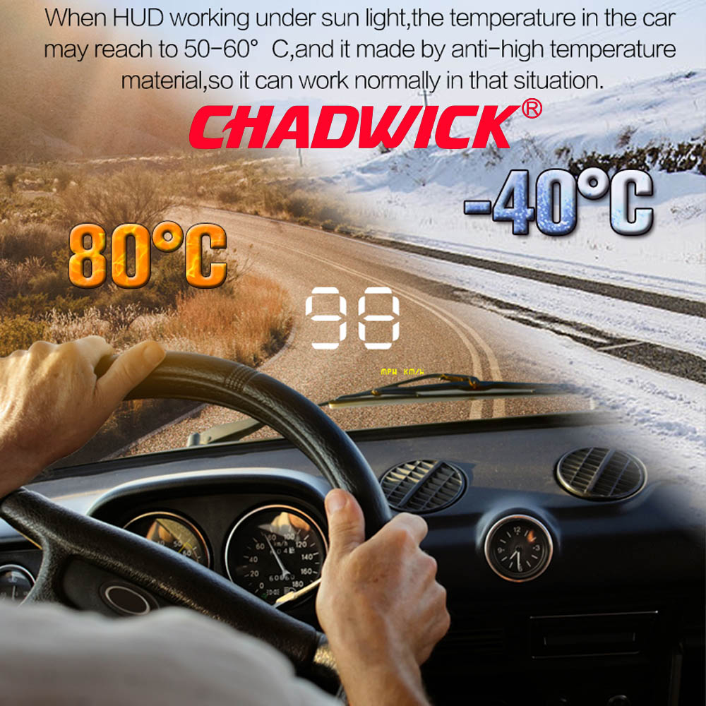 """Simple Number show HUD Digital Car Speedometer Auto 3.5"""" Head Up Display Windshield Projector Auto Power on/off CHADWICK A1000-in Head-up Display from Automobiles & Motorcycles"""