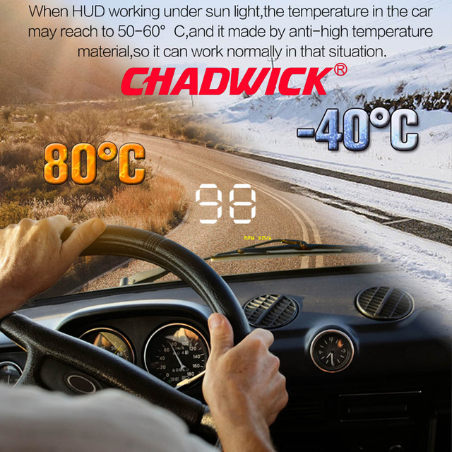"Simple Number show HUD Digital Car Speedometer Auto 3.5"" Head Up Display Windshield Projector Auto Power on/off CHADWICK A1000"