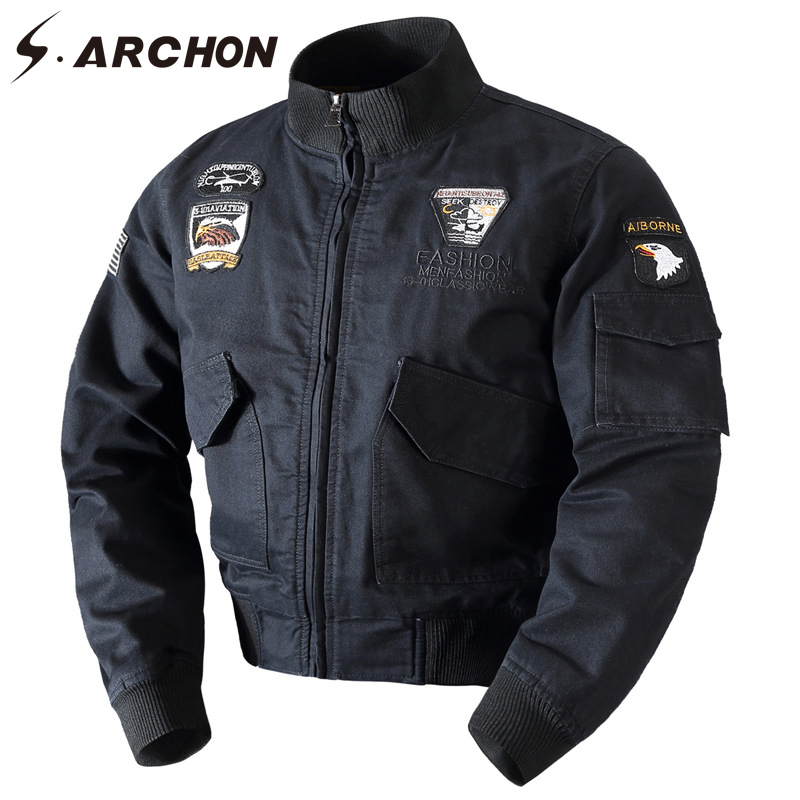 S.ARCHON Winter Warm Cotton Tactical Bomber Jacket Men Wool Liner Thick Thermal Military Coat Clothes Airborne Army Pilot Jacket us army tactical military winter coat men outdoor thermal cotton airborne jacket for sports airsoft hunting shooting edc clothes