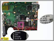 original 518433-001 board for HP pavilion DV6 DV6-1000 laptop motherboard 100% Test ok