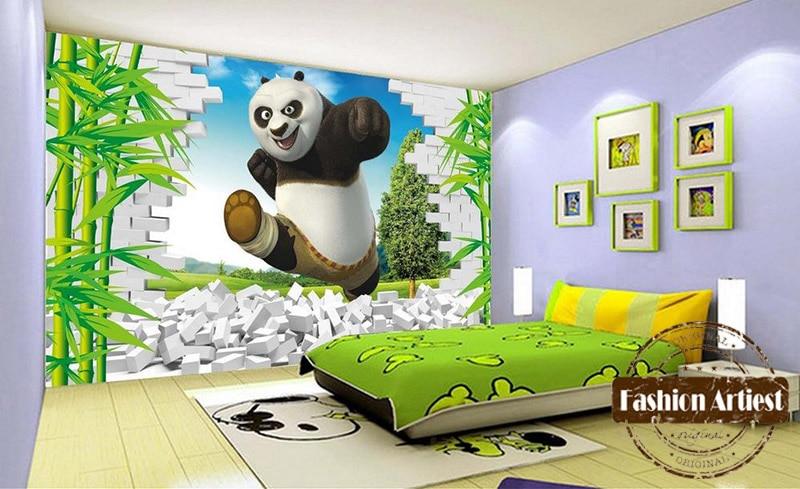 Marvelous Custom 3d Kids Boys Cartoon Wallpaper Mural Kongfu Panda In Bamboo Forest  Tv Sofa Children Bedroom Living Room Background In Wallpapers From Home ...