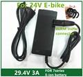 29.4V3A cargador 29.4 v 3A cargador de batería de litio bicicleta eléctrica de 24 V de litio cargador de batería Enchufe 29.4V3A XLRM