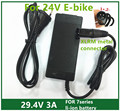 29.4V3A charger  29.4v 3A  electric bike lithium battery  charger for 24V lithium battery pack  XLRM Plug  29.4V3A charger