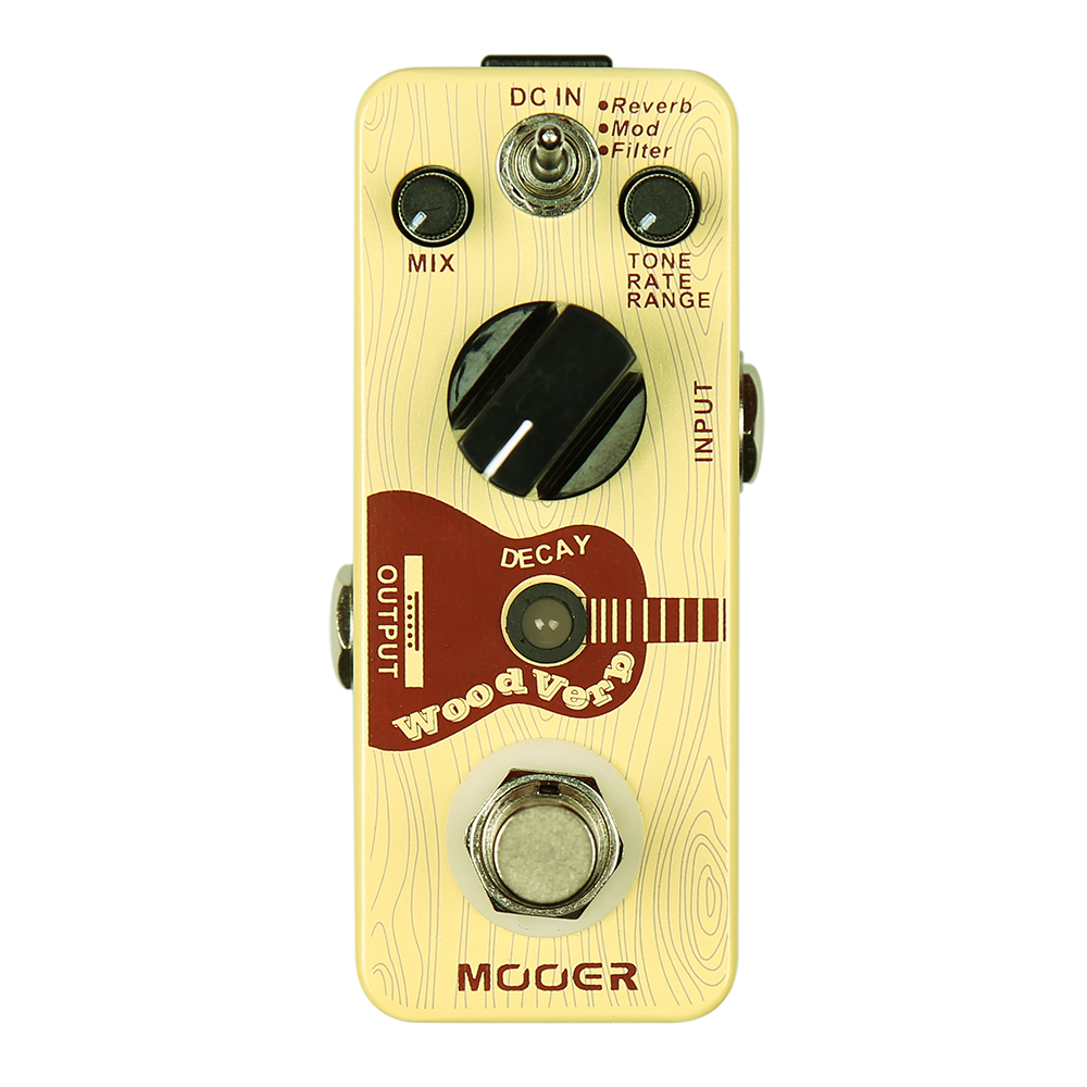 Mooer WoodVerb Acoustic Guitar Effects Pedal Anolog Reverb True Bypass Stompbox Guitar Accessories Musical Instruments цена