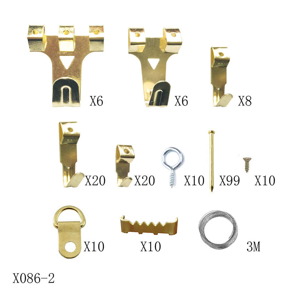 Nails Sturdy Picture Frame Hooks Removable Support Tools Easy Install Hanging Kit Traceless Hardware Stable With Wire Reusable