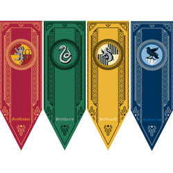 Magic Cosplay Harri Potter College Flag Banners Kids Gift Toys Gryffindor Slytherin Ravenclaw Hufflerpuff Party Supplies