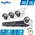 SANNCE 8-КАНАЛЬНЫЙ ВИДЕОНАБЛЮДЕНИЯ Системы Безопасности HD 1080N АХД DVR 4 ШТ. 720 P ИК открытый CCTV Камеры Системы Видеонаблюдения 8 Каналов комплект