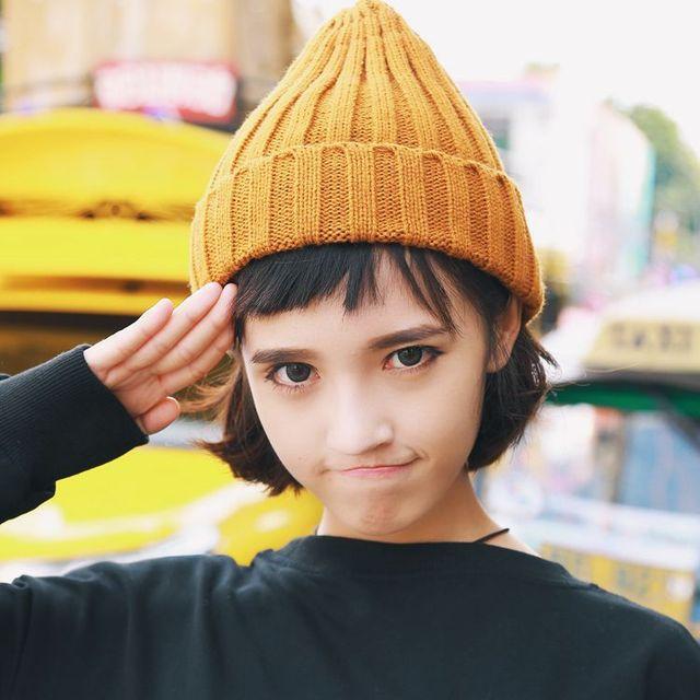 497e9b63259 Japan Korea Autumn And Winter Men Women Wool Cap Roll Hat Warmth Knit Tip  Cap Simple