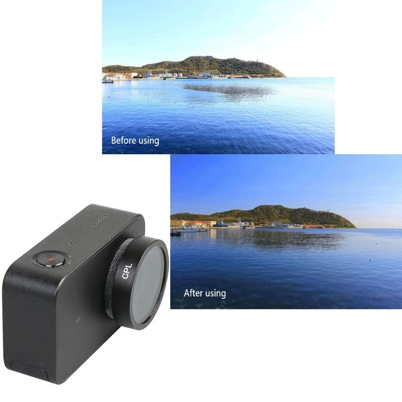 OOTDTY CPL Filter 34mm For Xiaomi Mijia 4K Mini Camera Lens Aluminium New