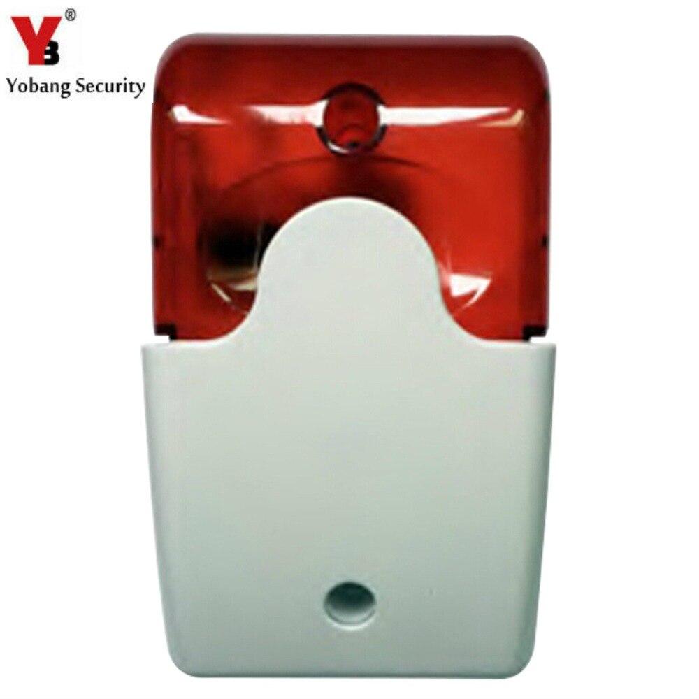 YobangSecurity Mini Wired Strobe Siren Sound Alarm 105dB Strobe Flashing Red Light Sound Siren for Home Security Alarm System