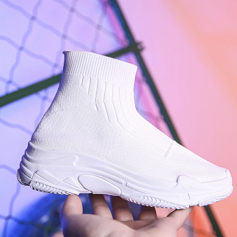 White Socks Sneakers Female 2019 Summer Platform Women Shoes Increased Stretch Fashion Casual Shoes For Woman Balanciaga Shoes
