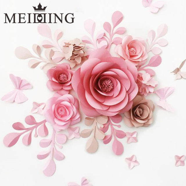 Online shop meidding 2pcs diy paper flower backdrop20cm paper sale mightylinksfo