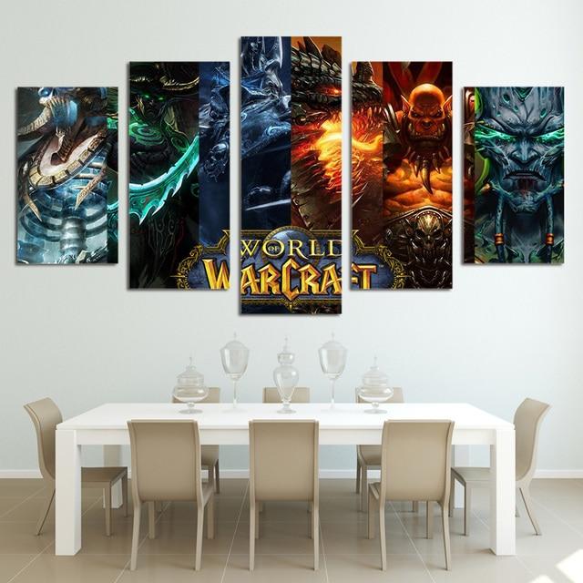 5 Panel world of warcraft Malerei Home für Wohnzimmer Dekoration ...