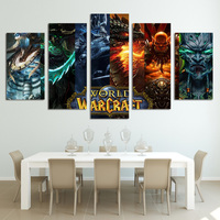 5 Panel Warcraft Painting Home Living Room Decoration Canvas Print Painting Large Canvas Art Unframed Combined