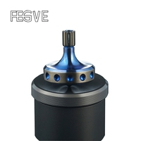 FEGVE Titanium Alloy Gyro Fidget Spinner Hand Spinners Metal Ceramic Beads Silver Baked Blue Hand Twist