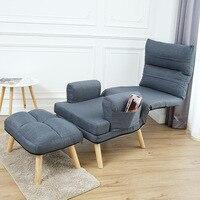 Ленивый диван односпальная спальня балконное кресло кровать простой Повседневный Съемный складной диван стул качалка диван складной шезл