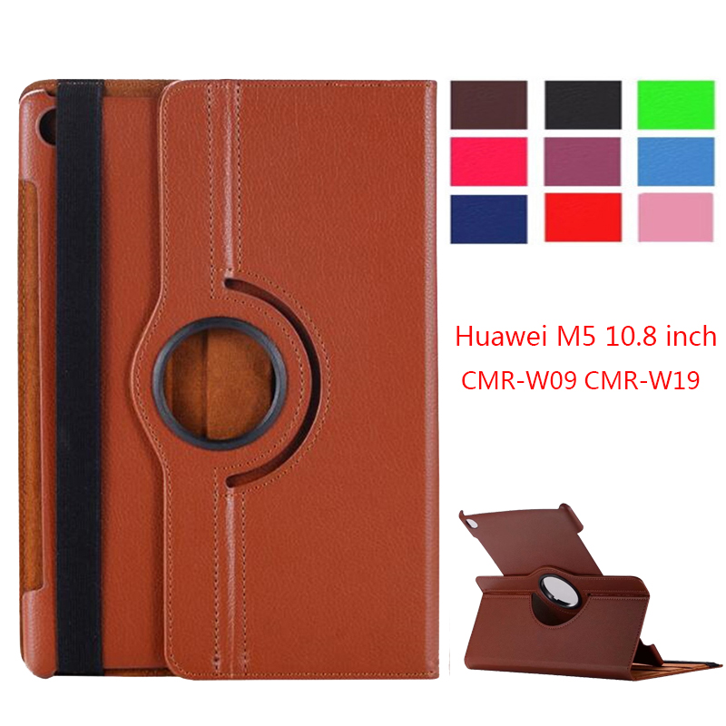 360 Rotating Case For Huawei Mediapad M5 10.8 Folding Stand PU Leather Case Flip Cover For Huawei M5 Pro 10.8 Inch Tablet Fundas