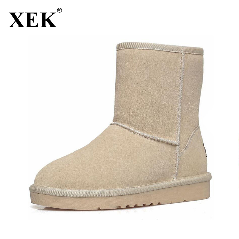 New Women High quality Flat Boots Winter Women's Snow Boots Beige Black Brown Warm Classical Flock Add Wool Boots N03 only true love high quality women boots winter snow boots