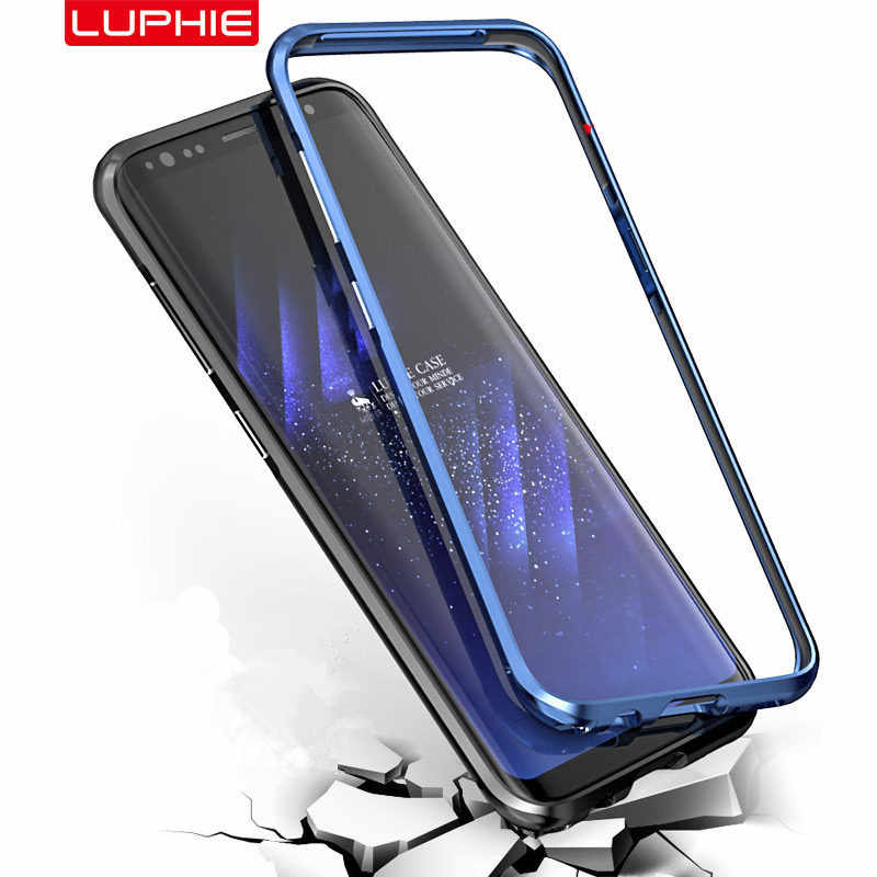 Luphie Curved Metal Bumper For Samsung Galaxy S10 S10 Plus Shockproof Case Ultra Thin Aluminum Bumper Frame For Samsung S10e