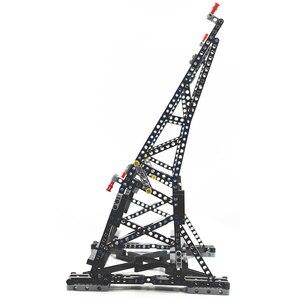 Image 3 - Preto moc millennium brinquedos falcon vertical expositor compatível com no.05132 e no.75192 modelo de coletor final