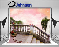 staircase Fairy Tale Sky Basket Red Roses Tape photo backdrop Vinyl cloth High quality Computer print wall background