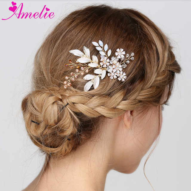8960c74e4c US $56.48 18% OFF|6pcs/lot Wholesale Factory Sell Gold Color Wedding Hair  Comb Fashion Bridal Side Comb Garden Party Hair Accessories-in Hair Jewelry  ...