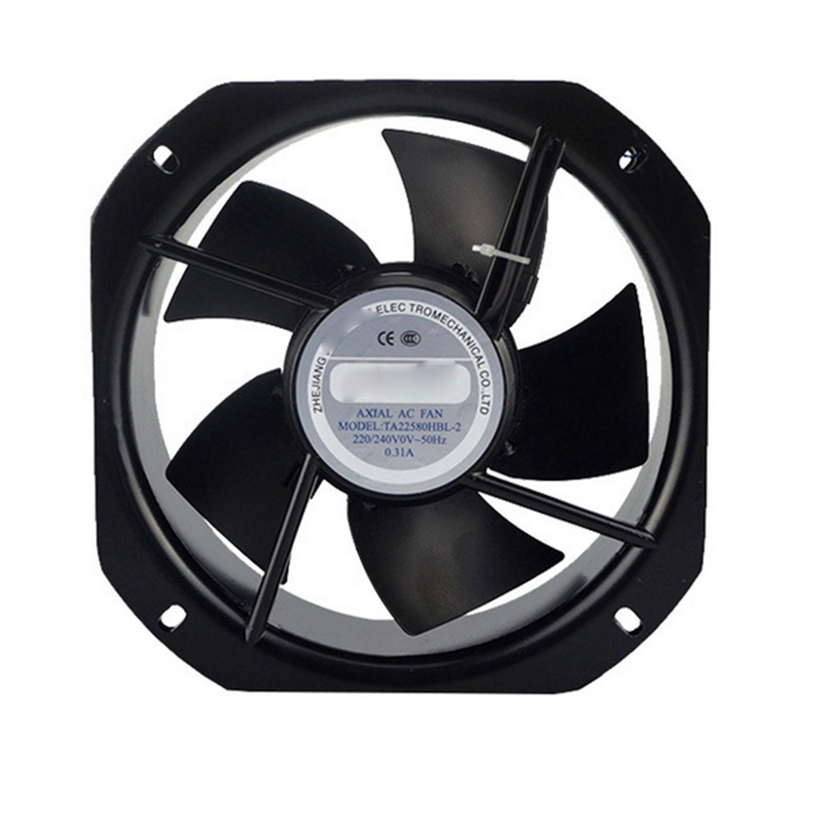 220V AC 225x225x80mm Axial Radiator Fan 588CFM 2500RPM Ball Bearing High Speed