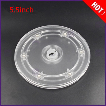 5.5inch acrylic turntable display turntable furniture fittings rack rotary base Lazy Susan turntable 1pc 24 inches 58cm big aluminium alloy swivel plate for kitchen furniture lazy susan turntable dining table