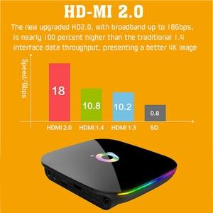 Image 3 - Q box Artı Dört Çekirdekli 4 GB + 32 GB Android 9.0 TV 4 K HD akıllı medya oynatıcısı WI FI HDMI sıcak Satış Yüksek kalite