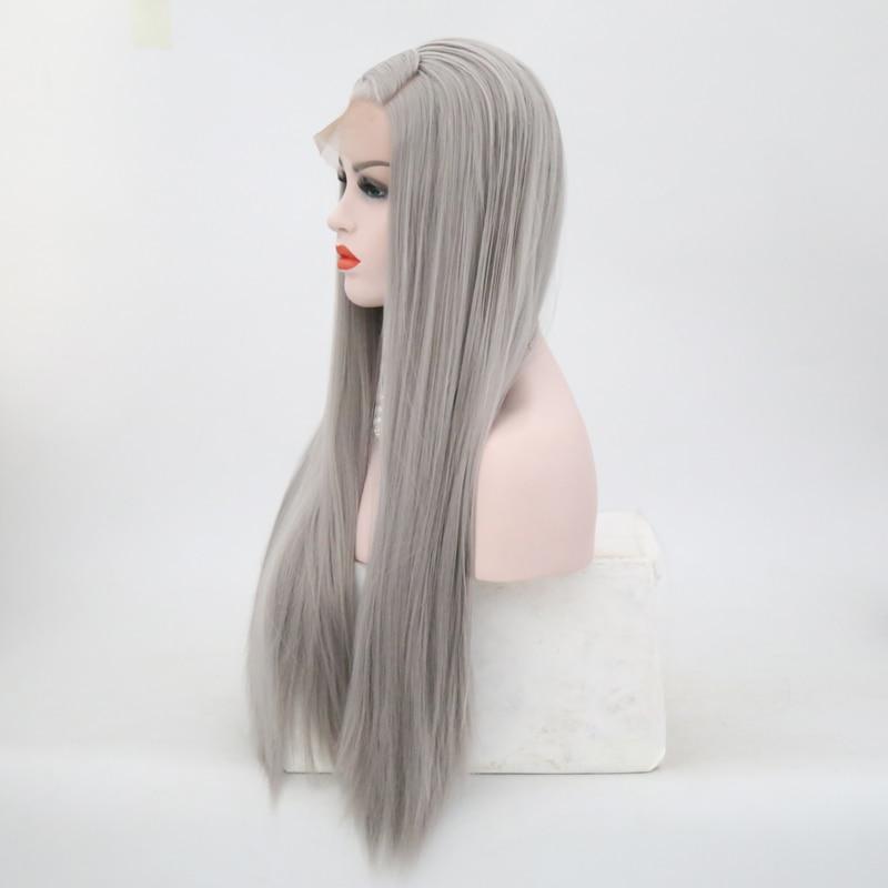 do laço sintético peruca cinza completo cosplay