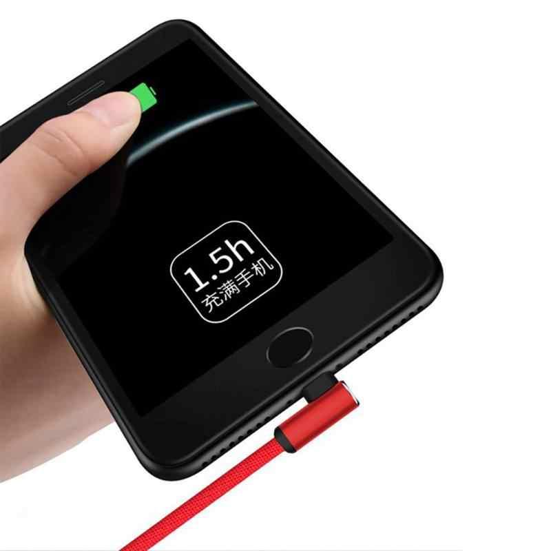 Universale 1 pc Linea di Dati del Caricatore di 90 Gradi USB del Cavo Per L'illuminazione/Android Veloce Cavo di Ricarica Cavo Per Iphone I Telefoni Samsung