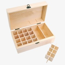 10ML*16PCS lot Pure Essential Oils 25 Slots Wooden Essential Oils Box Solid Wood Case Holder Aromatherapy Bottles Storage Organ
