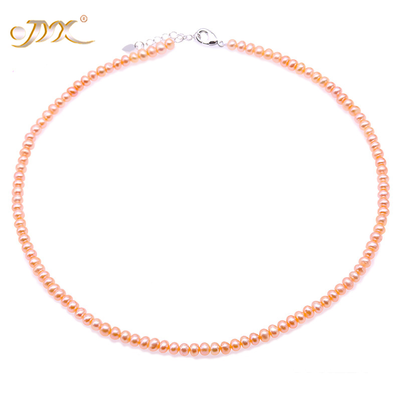 JYX White Pink Lavender Բնական մարգարիտ - Նուրբ զարդեր - Լուսանկար 2