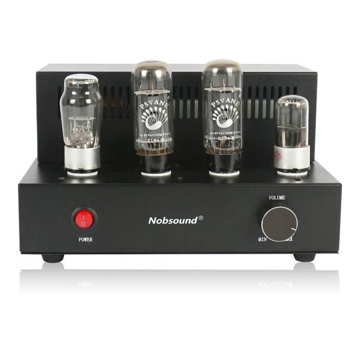 Nobsound мини EL34 ламповый Усилители домашние Hi Fi несимметричный класса стерео Усилители домашние готовой продукции 110 ~ 240 В